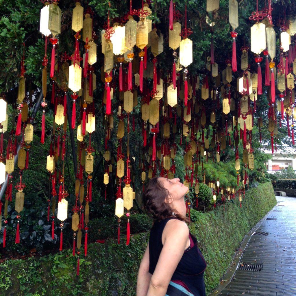 Wunschbaum in Taipei (Taiwan)
