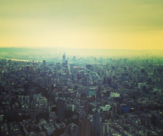 Stadtansicht Taipei - die Stadt ist gut geeignet für Reisen mit kleinen Kindern
