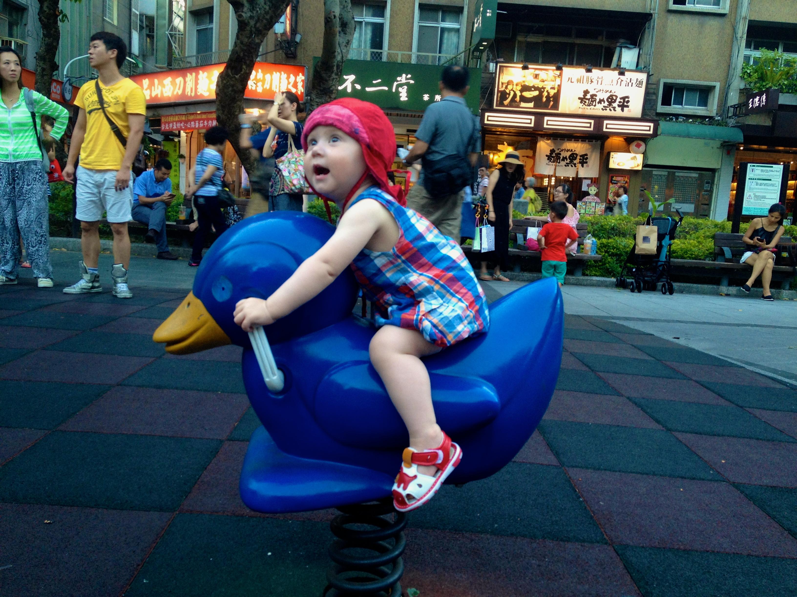 Spielplätze sind in Taipei zahlreiche vorhanden