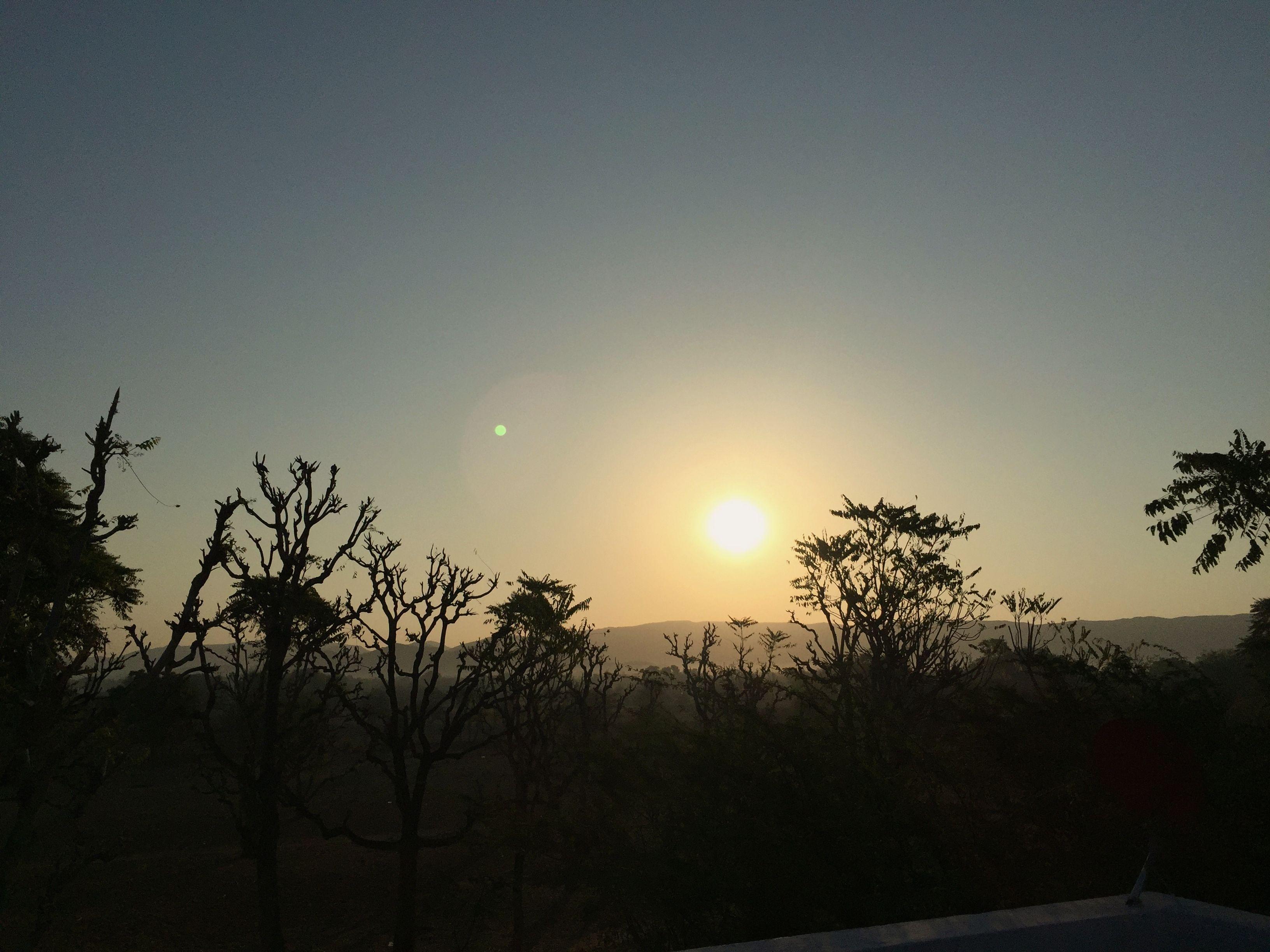 Sonnenaufgang über der Thar-Wüste und Pushkar.