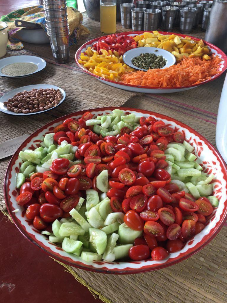 Salat und Gemüseplatten